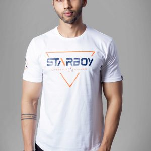 White Round Neck Sports T-shirts